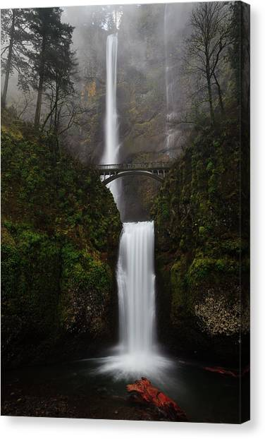 Scene Canvas Print - Multnomah Fall by Helminadia