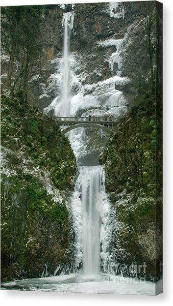 Multnomah Falls Ice Canvas Print