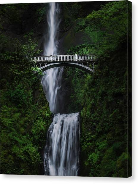 Tunnels Canvas Print - Multnomah Falls by Larry Marshall