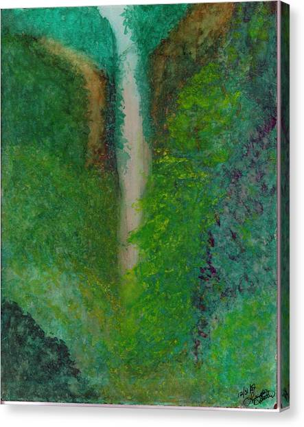 Multnomah Falls Canvas Print by Lynnette Jones