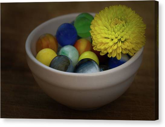 Mum In Marbles Canvas Print by Denise McKay