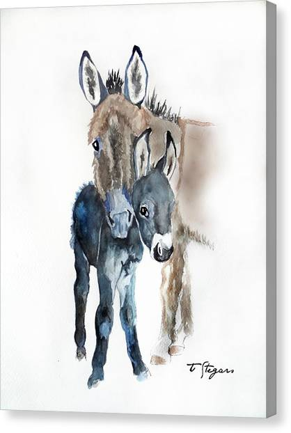 Mummy Donkey Canvas Print