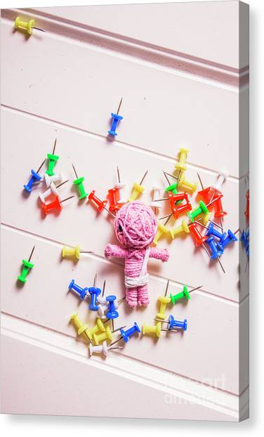 Doll Canvas Print - Mummy Halloween Voodoo Doll by Jorgo Photography - Wall Art Gallery