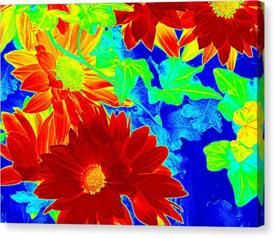 Mums In My Coloring Book Canvas Print