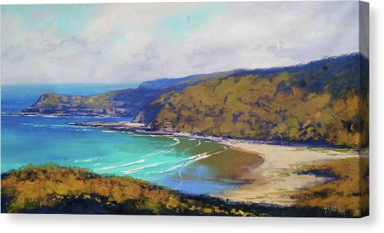 Impressionist Beach Canvas Print - Munmorah Coastline Australia by Graham Gercken