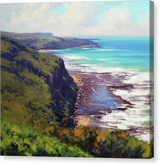 Impressionist Beach Canvas Print - Munmorah State Conservation Area by Graham Gercken