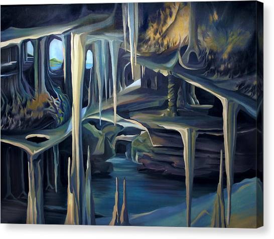 Mural Ice Monks In November Canvas Print
