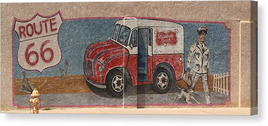 Mural On Historic Route 66 Canvas Print