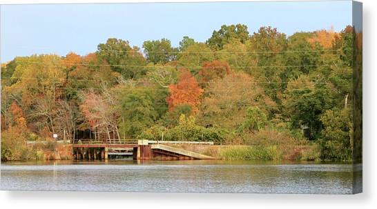 Murphy Mill Dam/bridge Canvas Print