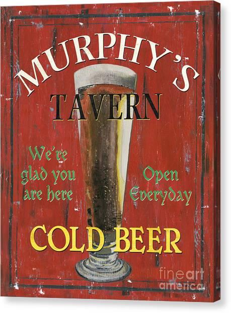 St. Patricks Day Canvas Print - Murphy's Tavern by Debbie DeWitt
