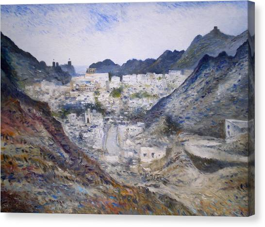 Muscat Old Town Oman 2002  Canvas Print by Enver Larney