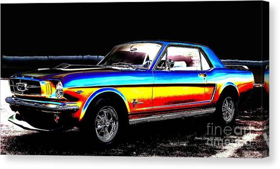 Muscle Car Mustang Canvas Print