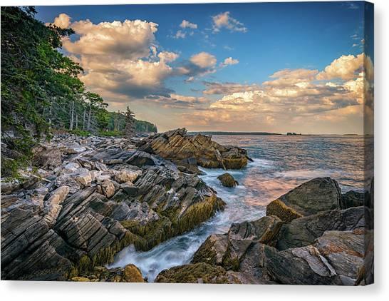 East Village Canvas Print - Muscongus Bay by Rick Berk