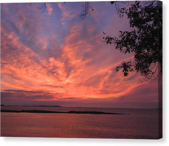 Muscongus Sound Sunrise Canvas Print