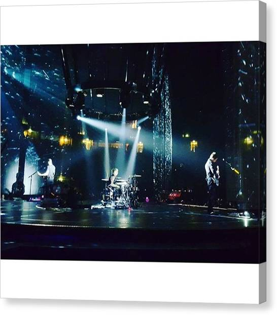 Bands Canvas Print - @muse Live #dronestour #manchester by Wyn Hopkins