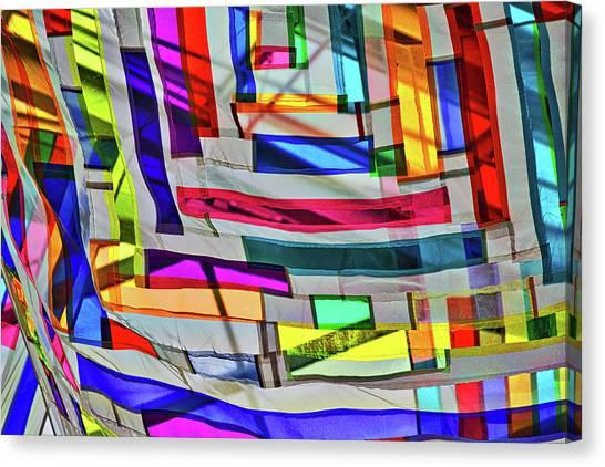 Museum Atrium Art Abstract Canvas Print