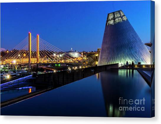 Museum Of Glass At Blue Hour Canvas Print