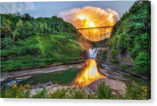 Mushroom Cloud Over Upper Falls Canvas Print
