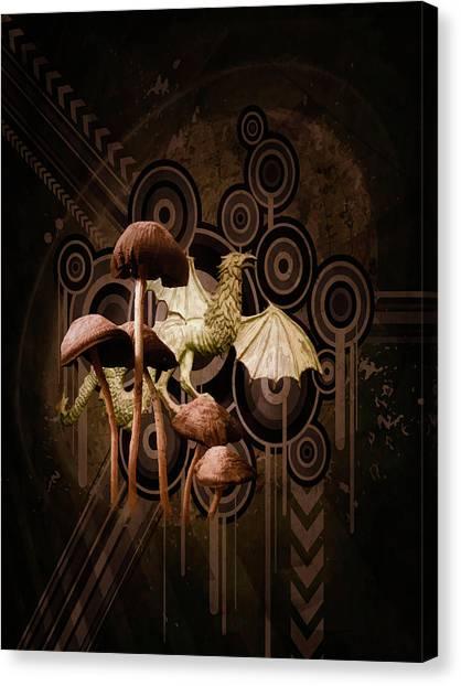 Mushroom Dragon Canvas Print