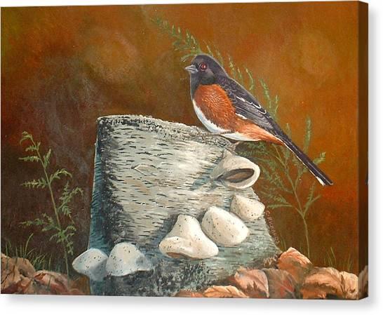 Mushroom Stump Canvas Print