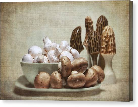 Mushrooms Canvas Print - Mushrooms And Carvings by Tom Mc Nemar