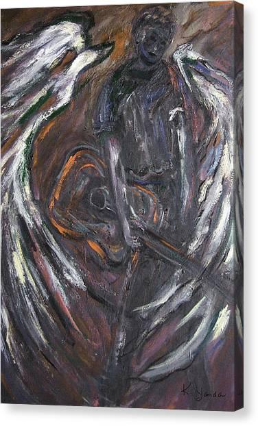 Music Angel Of Broken Wings Canvas Print