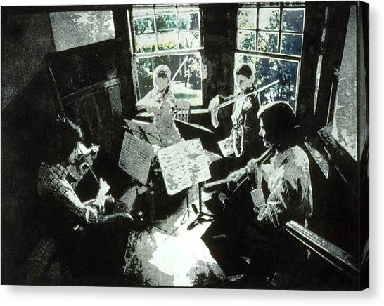 Music As Light Canvas Print by Randy Sprout