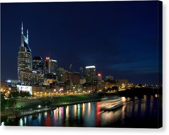 Music City Queen At Nashville Canvas Print