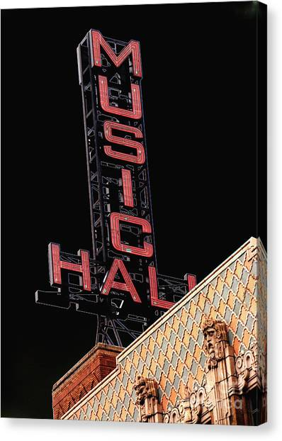 Music Hall Sign Canvas Print