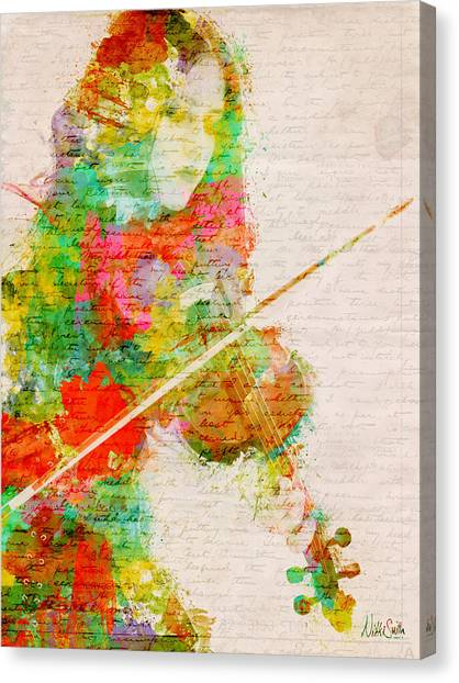 Fiddling Canvas Print - Music In My Soul by Nikki Smith