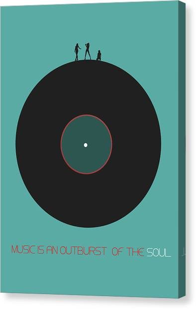 Rock Music Canvas Print - Music Is An Outburst Of The Soul Poster by Naxart Studio