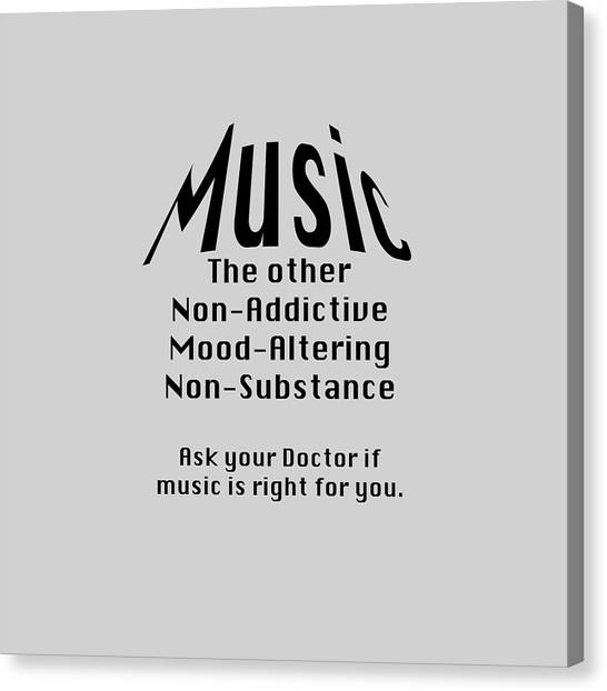 Music Is Right For You 5502.02 Canvas Print