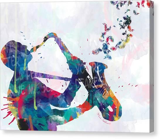 Saxophone Canvas Print - Music  by Mark Ashkenazi