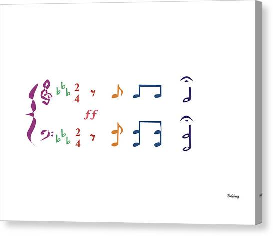 Music Notes 1 Canvas Print