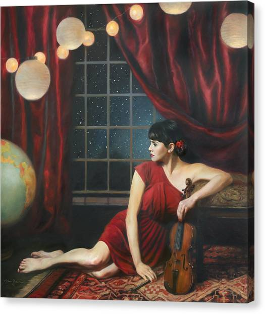 Persians Canvas Print - Music Of The Spheres by Anna Rose Bain