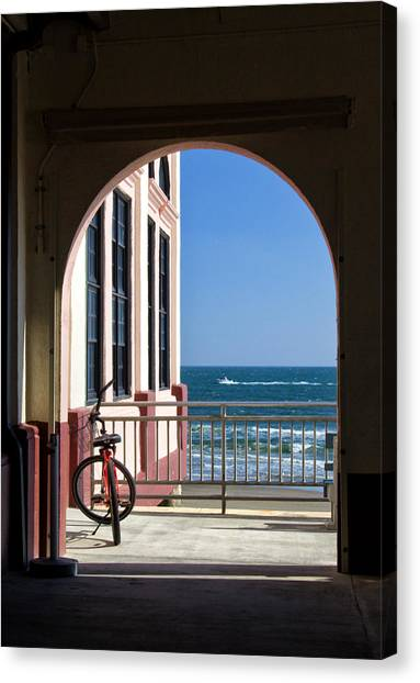 Music Pier Doorway View Canvas Print