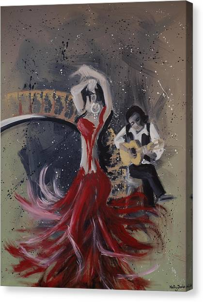 Flamenco Canvas Print - Musica Espaniol by Kelly Jade King