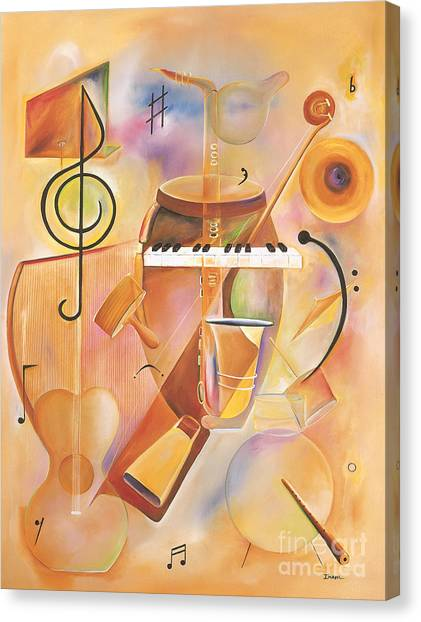 Bongos Canvas Print - Musical Mix  by Ikahl Beckford