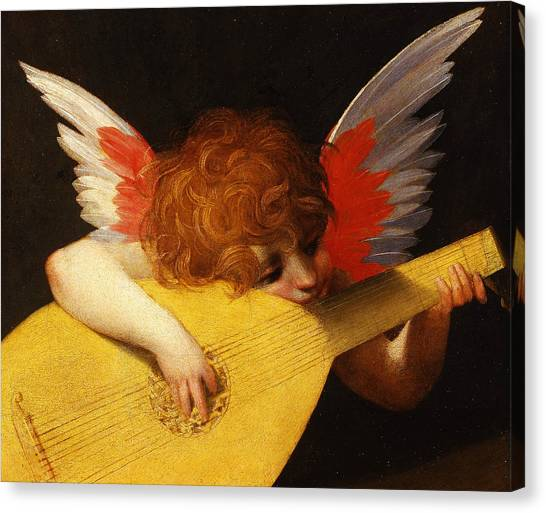 Mandolins Canvas Print - Musician Angel by Rosso Fiorentino