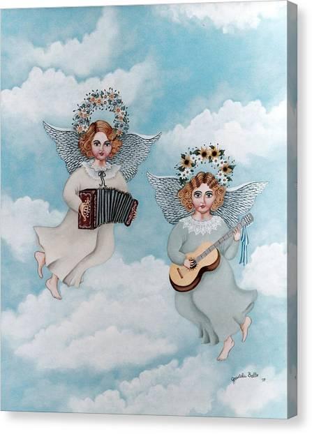 Musician Angels Canvas Print