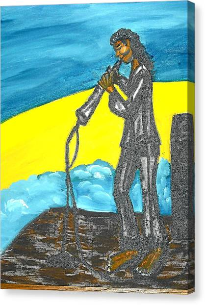 Musician Canvas Print by BJ Abrams
