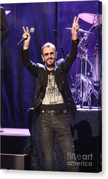 Ringo Starr Canvas Print - Musician Ringo Starr  by Concert Photos
