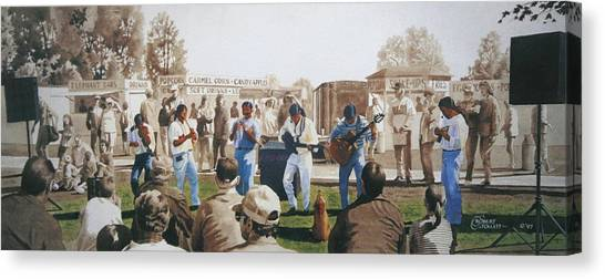 Musicians And The Impromptu Tenor Canvas Print