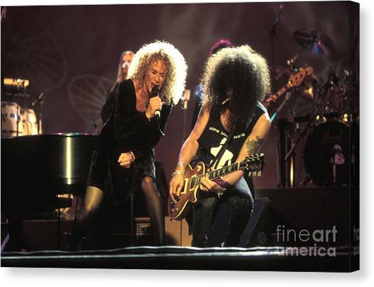 Slash Canvas Print - Musicians Carol King And Slash by Concert Photos