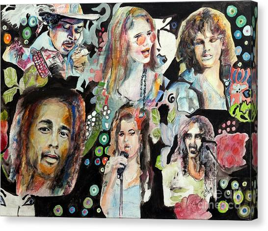 Frank Zappa Canvas Print - Musicians by Hermine Ritter