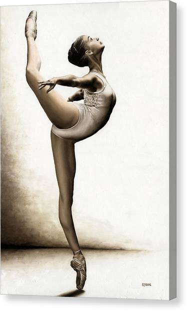 Ballet Canvas Print - Musing Dancer by Richard Young