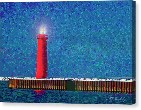 Muskegon Lighthouse Canvas Print by Marti Buckely