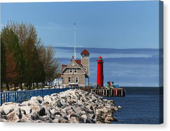 Muskegon Pierhead Light Canvas Print