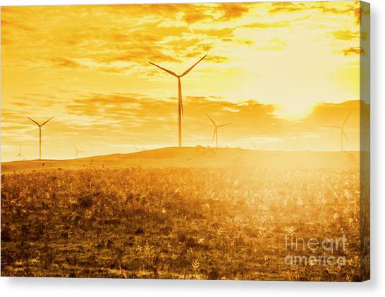 Conservation Canvas Print - Musselroe Wind Farm by Jorgo Photography - Wall Art Gallery