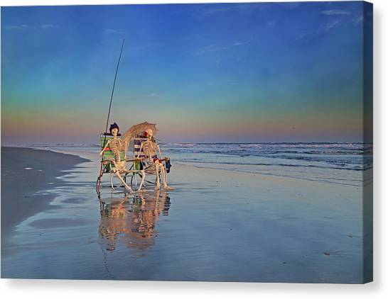 Fishing Poles Canvas Print - Must Have Been The Roses by Betsy Knapp